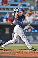 Asheville Tourists third baseman Ryan McMahon #5 swings at a pitch during a game against the Kannapolis Intimidators at McCormick Field on June 7, 2014 in Asheville, North Carolina. The Tourists defeated the Intimidators 7-5. (Tony Farlow/Four Seam Images)