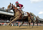 August 29, 2015 : Run Happy, ridden by Joe Bravo, wins the Person Ensign Stakes on Travers Stakes Day in Saratoga Springs, NY. Bob Mayberger/ESW/CSM