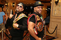 ATLANTIC CITY, NJ - JUNE 10 : Josh Colon and Hazel Roche arrive at The Show Boat Hotel on June 11, 2021 for the Friday June 11 Celebrity Boxing fights June 10, 2021 Credit: Star Shooter/MediaPunch