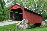 The Pool Forge Covered Bridge, Lancaster County, Pennsylvania, USA.