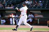 June 15th 2008:  First baseman Jaime Ortiz of the Great Lakes Loons, Class-affiliate of the Los Angeles Dodgers, during a game at Dow Diamond in Midland, MI.  Photo by:  Mike Janes/Four Seam Images