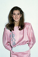 Montreal (Qc) CANADA - File Photo - March 4, 1985 - Celine Dion pose for photographers at  a fundraiser event.<br /> <br /> <br /> -Photo (c)  Images Distribution