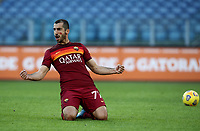 Football, Serie A: AS Roma - Parma, Olympic stadium, Rome, November 22, 2020. <br /> Roma's Henrikh Mkhitaryanl celebrates after scoring his first goal in the match during the Italian Serie A football match between Roma and Parma at Rome's Olympic stadium, on November 22, 2020. <br /> UPDATE IMAGES PRESS/Isabella Bonotto