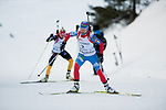 MARTELL-VAL MARTELLO, ITALY - FEBRUARY 03: ZAGORUIKO Anastasia (RUS) during the Women 10 km Pursuit at the IBU Cup Biathlon 6 on February 03, 2013 in Martell-Val Martello, Italy. (Photo by Dirk Markgraf)