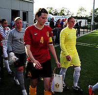 Vriendschappelijke interland vrouwenvoetbal : Belgium A - France A te Nieuwpoort ;..Heleen Jaques..foto DAVID CATRY / Vrouwenteam.be