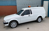 BNPS.co.uk (01202 558833)<br /> Pic: HampsonAuctions/BNPS<br /> <br /> Pictured: 1985 Ford Escort 1.3 Van.<br /> <br /> Since the 1990s, Geoff Barlow, 46, has collected dozens of classic cars from an Escort Mexico replica to several types of Transit, Cortina, and Sierra.<br /> <br /> However, he still regrets selling the first car which inspired his passion, a 1980 Escort Mark 2 he bought from his sister in 1992.  <br /> <br /> Geoff's fascination with Fords gathered pace in the last decade and he 'lost control,' buying as many Fords as he came across and saving them from disrepair.