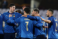 FBL- Friendly  football match Italy vs Estonia at the Artemio Franchi stadium in Florence on November 11, 2020.<br /> Italy's Emerson (second right) celebrates after scoring with his teammates during the friendly football match between Italy snd Estonia at the Artemio Franchi stadium in Florence on November 11, 2020. <br /> UPDATE IMAGES PRESS/Isabella Bonotto