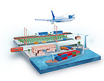 Illustration of global logistic concept