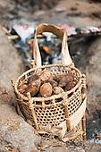 Aldeia Baú, Para State, Brazil. Babassu nuts in a pannier.