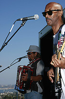 A large crowd gathered  to hear the sounds of  Theo and the Zydeco Patrol as the 2008 concerts on the Green series began on Sunday, July 20 at Kate Sessions Park in Pacific Beach.  The series will continue for three more weeks on every Sunday between 4pm and 6:30pm.