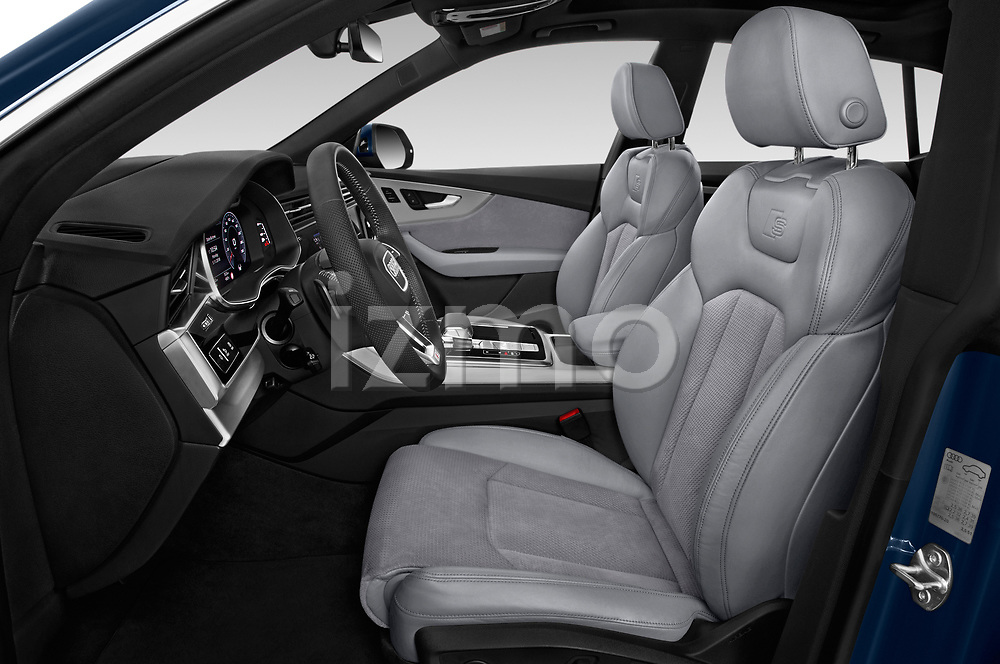 Front seat view of a 2019 Audi Q8 S Line 5 Door SUV