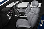 Front seat view of a 2019 Audi Q8 S Line 5 Door SUV front seat car photos
