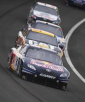 Feb 22, 2009; Fontana, CA, USA; NASCAR Sprint Cup Series driver Brian Vickers during the Auto Club 500 at Auto Club Speedway. Mandatory Credit: Mark J. Rebilas-