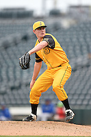 Jacksonville Suns  pitcher Nick Wittgren (33) delivers a pitch during a game against the Pensacola Blue Wahoos on April 20, 2014 at Bragan Field in Jacksonville, Florida.  Jacksonville defeated Pensacola 5-4.  (Mike Janes/Four Seam Images)