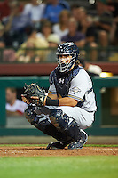 Salt River Rafters Jacob Nottingham (24), of the Milwaukee Brewers organization, during a game against the Scottsdale Scorpions on October 20, 2016 at Scottsdale Stadium in Scottsdale, Arizona.  Scottsdale defeated Salt River 4-1.  (Mike Janes/Four Seam Images)