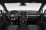 Stock photo of straight dashboard view of 2020 Seat Tarraco FR 5 Door SUV Dashboard