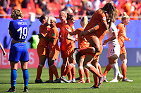 Celebration des joueuses des Pays Bas en fin de match<br /> <br /> Valenciennes 29-06-2019 <br /> Football Womens World Cup <br /> Italia - Olanda <br /> Photo JB Autissier/ Panoramic/Insidefoto <br /> ITALY ONLY