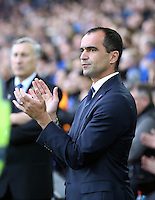 Liverpool, UK. Saturday 01 November 2014<br /> Pictured: Former Swansea player and now Everton manager Roberto Martinez.<br /> Re: Premier League Everton v Swansea City FC at Goodison Park, Liverpool, Merseyside, UK.