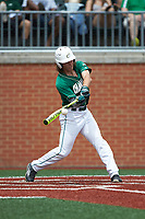 T.J. Nichting (1) of the Charlotte 49ers at bat against the Marshall Thundering Herd at Hayes Stadium on April 23, 2016 in Charlotte, North Carolina. The Thundering Herd defeated the 49ers 10-5.  (Brian Westerholt/Four Seam Images)