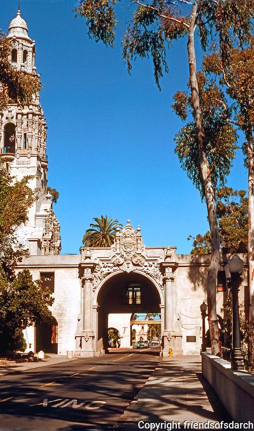 San Diego: Balboa Park. Entrance, Museum of Man. Photo '78.