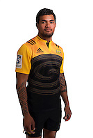 Vaea Fifita. Hurricanes Super Rugby official headshots at Rugby League Park, Wellington, New Zealand on Wednesday, 6 January 2016. Photo: Dave Lintott / lintottphoto.co.nz