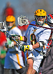 17 March 2012: University of Vermont Catamount Attackman/Midfielder Garrett Virtue, a Junior from Rye, NY, in action against the Sacred Heart University Pioneers at Virtue Field in Burlington, Vermont. The visiting Pioneers rallied to tie the score at 11 with five unanswered goals in the 4th period. However the Cats came back with only 10 seconds remaining in the game to defeat the Pioneers 12-11 in their non-conference matchup. Mandatory Credit: Ed Wolfstein Photo