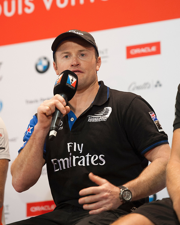 Glenn Ashby, JULY 21, 2016 - Sailing: Glenn Ashby, skipper/sailing director of Emirates Team New Zealand during the Louis Vuitton America's Cup World Series press conference, Portsmouth, United Kingdom. (Photo by Rob Munro/Stewart Communications)
