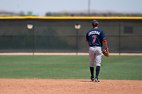 Cleveland Indians shortstop Tyler Freeman (7) during an Extended Spring Training game against the Arizona Diamondbacks at the Cleveland Indians Training Complex on May 27, 2018 in Goodyear, Arizona. (Zachary Lucy/Four Seam Images)