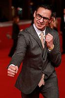 """Il regista afgano-tedesco Buhran Qurbani posa sul red carpet per la presentazione del suo film """"We are young. We are strong'"""" al Festival Internazionale del Film di Roma, 16 ottobre 2014.<br /> German-Afghan director Buhran Qurbani poses on the red carpet to present his movie """"We are young. We are strong'"""" during the international Rome Film Festival at Rome's Auditorium, 16 October 2014.<br /> UPDATE IMAGES PRESS/Riccardo De Luca"""
