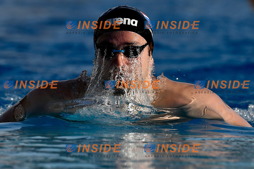 Arno Kamminga of Netherlands competes in the men 200m breaststroke during the 58th Sette Colli Trophy International Swimming Championships at Foro Italico in Rome, June 27th, 2021. Arno Kamminga placed first.<br /> Photo Andrea Staccioli / Deepbluemedia / Insidefoto