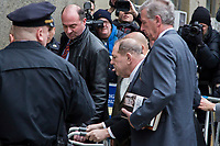 NEW YORK, NEW YORK - JANUARY 6: Harvey Weinstein arrives at the Manhattan courthouse. On January 6, 2020 in New York City. Weinstein pleaded not guilty to five counts of rape and faces a possible life sentence in prison.(Photo by Pablo Monsalve / VIEWpress)