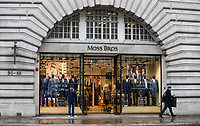 General view of MOSS BROS in Regent Street as Beast from the East weather continues at City of London, London, England on 1 March 2018. Photo by Andy Rowland.
