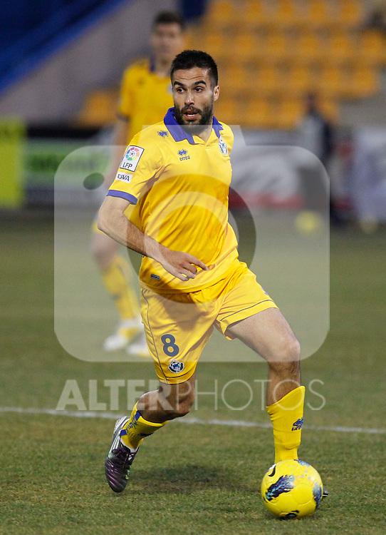Madrid (28/01/2012) LIGA ADELANTE.ALCORCON-U.D. LAS PALMAS..RUBEN SANZ...