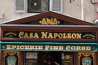 Europe/France/2A/Corse du Sud/Ajaccio: Façade et Enseigne d'une épicerie fine: Casa Napoléon