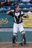 Eric Hutting #3 of the Long Beach State Dirtbags during a game against the Indiana Hoosiers at Blair Field on March 14, 2014 in Long Beach, California. Long Beach State defeated Indiana 4-3. (Larry Goren/Four Seam Images)