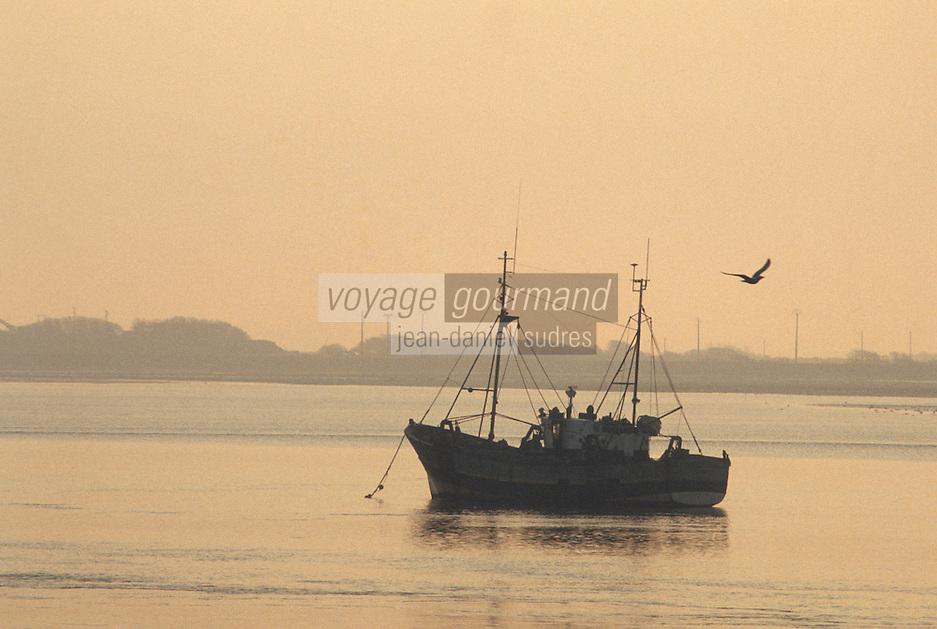 Europe/France/Bretagne/56/Morbihan/Port-Louis: Bateau de pêche au large
