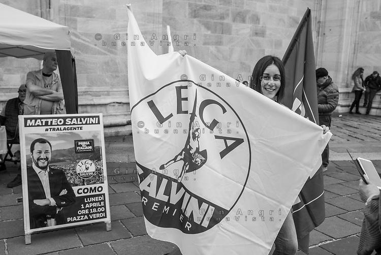 Como, 1 Aprile 2019, comizio di Matteo Salvini