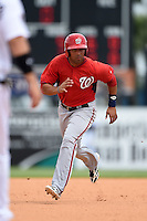 Washington Nationals outfielder Randolph Oduber (14) during a Spring Training game against the Detroit Tigers on March 22, 2015 at Joker Marchant Stadium in Lakeland, Florida.  The game ended in a 7-7 tie.  (Mike Janes/Four Seam Images)