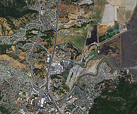 aerial photo map of San Rafael, California
