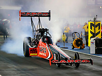 Oct 3, 2020; Madison, Illinois, USA; NHRA top fuel driver Steve Torrence during qualifying for the Midwest Nationals at World Wide Technology Raceway. Mandatory Credit: Mark J. Rebilas-USA TODAY Sports