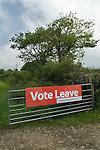 Vote Leave sign Cornwall
