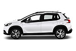 Car Driver side profile view of a 2019 Peugeot 2008 GT-Line 5 Door SUV Side View