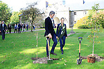 "Alex Conyngham, Earl of Mount Charles walks with Brooke Brown Barzun Brown-Forman Corporation at the ground breaking for the new $50 Million Slane Distillery on the grounds of Slane Castle.<br /> Picture Fran Caffrey /Newsfile.ie<br /> <br /> BROWN-FORMAN BREAKS GROUND ON<br /> NEW $50 MILLION SLANE DISTILLERY<br /> <br /> US Ambassador joins Conyngham and Brown families for historic occasion<br /> <br /> Distillery and Visitor Centre to be completed late 2016<br /> <br /> The US Ambassador to Ireland, Kevin F. O'Malley, was guest of honour today at the official ground breaking ceremony for the $50 million (approximately €44 million) Slane Distillery on the historic Slane Castle Estate in Co. Meath, home of Henry Conyngham, the eighth Marquess Conyngham, and his son Alex Conyngham, Earl of Mount Charles.<br />  <br /> The distillery, which will also include a Visitor Centre, is being built by leading US Drinks firm Brown-Forman Corporation, the owners of Jack Daniel's, Southern Comfort and Woodford Reserve which bought all shares of Slane Irish Whiskey Company from the Conyngham family earlier this year.  The Conynghams remain centrally involved in the development of the new distillery and the new whiskey brands which will be introduced in early 2017. <br />  <br /> This is the first new distillery Brown-Forman has built outside of the US and represents its entry into distilling Irish whiskey, one of the fastest growing spirits categories over the last few years.  When completed by the end of 2016, Slane Distillery will create nearly 25 new full-time jobs while the construction process will support approximately 80 jobs.  The Slane Distillery and Visitor Centre will be a welcome new attraction to the Boyne Valley tourism trail.<br />  <br /> The US Ambassador signed the first cask that will be filled with whiskey from the distillery and commented on the significance of the occasion, ""There are so many links between Ireland and the great state of Kentucky – people, music, horses and a great tradition of making the finest whiskies.  This is a truly mod"