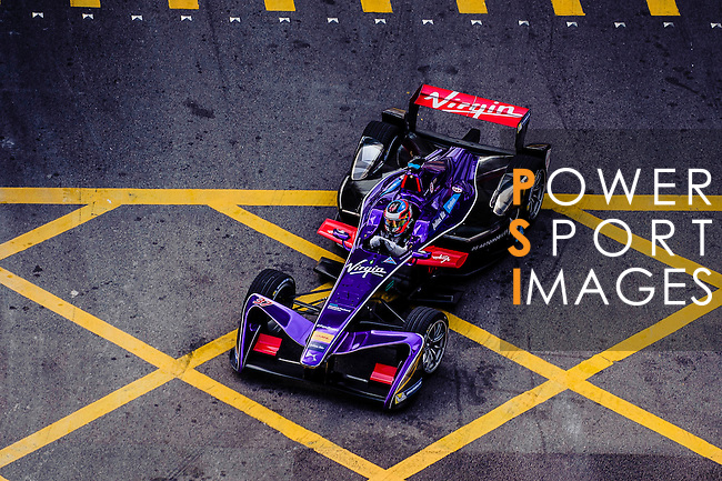 José Maria Lopez of DS Virgin Racing team during the first stop of the FIA Formula E Championship HKT Hong Kong ePrix at the Central Harbourfront Circuit on 9 October 2016, in Hong Kong, China. Photo by Marcio Rodrigo Machado / Power Sport Images