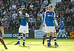 Hearts v St Johnstone...04.08.12.Nigel Hasselbaink can't believe he has hit the post twice in the same match.Picture by Graeme Hart..Copyright Perthshire Picture Agency.Tel: 01738 623350  Mobile: 07990 594431