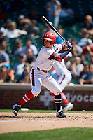 Robert Moore (1) during the Under Armour All-America Game, powered by Baseball Factory, on July 22, 2019 at Wrigley Field in Chicago, Illinois.  Robert Moore attends Shawnee Mission East High School in Leawood, Kansas and is committed to the University of Arkansas.  (Mike Janes/Four Seam Images)