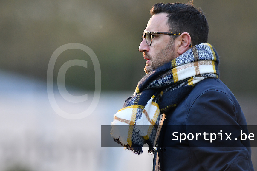 Head Coach Philippe Venturoso of Sporting Charleroi pictured during a female soccer game between Sporting Charleroi and KRC Genk on the 4 th matchday in play off 2 of the 2020 - 2021 season of Belgian Scooore Womens Super League , friday 30 th of April 2021  in Marcinelle , Belgium . PHOTO SPORTPIX.BE | SPP | Jill Delsaux