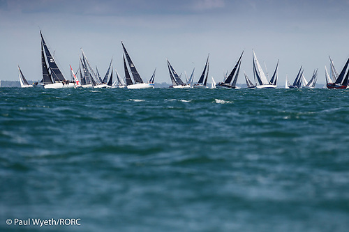 120 boats compete in the Cowes-Dinard-St Malo Race. © Paul Wyeth/RORC
