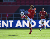 27th September 2020; Ashton Gate Stadium, Bristol, England; English Football League Championship Football, Bristol City versus Sheffield Wednesday;  Jamie Paterson of Bristol City controls the high ball
