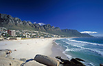 "South Africa, Cape Town, Camps Bay and ""12 Apostle"" Mountains"